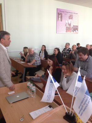 Round table on the training of Erasmus + project took place in KNURE